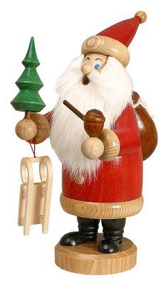 Räuchermännchen Weihnachtsmann groß, rot (26cm) von Drechselwerkstatt Uhlig
