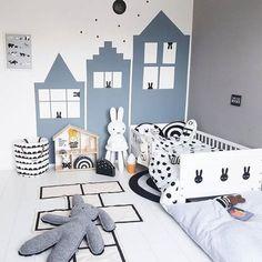 Du blanc et du gris pour une chambre d'enfant
