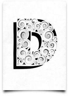 Paper. Scalpel. Ruler. Scanner.Typographic experiments by German designer Tony Ziebetzki.