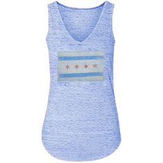 City of Chicago Ladies Royal Burnout Vintage Tank Top by ThirtyFive55 | Sports World Chicago $21.95