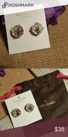 Kate spade earrings Beautiful big round clear studs.  Brand new. Kate spade earrings. Color is called clear. kate spade Jewelry Earrings