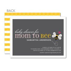 """cute """"mom to bee"""" announcement"""