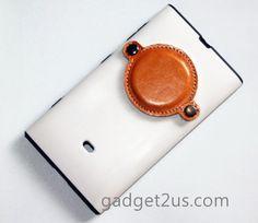 Nokia Lumia 1020 leather Protector white
