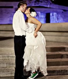 Converse Bride FTW!   -Photo taken by Your Life Photography