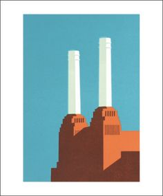 Paul Catherall Battersea Blue III Greetings Card © Copyright Image