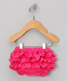 Take a look at this Hot Pink Bow Diaper Cover - Infant by Under The Hooded Towels on #zulily today!