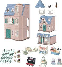 Sylvanian Families Deluxe Multi-Family House Birthday Set 5504 Dolls House: Amazon.de: Spielzeug Sylvanian Families, Girls Navy Dress, Chocolate Rabbit, Toys R Us Canada, Toys Uk, Pink Cushions, Babies R, Dream Baby, Family Birthdays