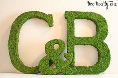 Moss Covered Initials Tutorial {Monograms} - Two Twenty One