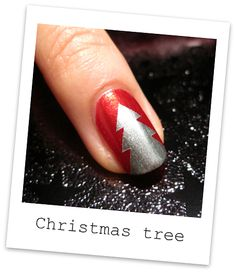 Nailside: Tutorial: Tape Christmas tree design