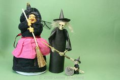 Make an Easy Witch for Halloween: Easy to Make Miniature Witches For Halloween