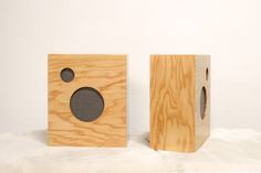 Plywood-covered speakers from M.Crow & Co. by Tyler Hays | Remodelista