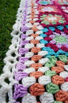 A Bunch Of Buttons: Summer Garden Granny Blanket