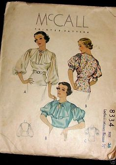 mccall / Basic peasant style blouse with the addition of smocked sleevehead ~ Dress Making Patterns, Vintage Dress Patterns, Blouse Vintage, Vintage Dresses, Vintage Outfits, Retro Mode, Mode Vintage, Retro Vintage, Retro Fashion