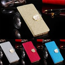For Alcatel C9 Dual 7047 7047D Case Luxury Bling Crystal Flip PU Leather Wallet Phone Bag For Alcatel One Touch Pop C9 Cover(China (Mainland))
