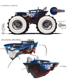 Monster Car Concept Art