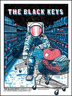 The Black Keys Concert Poster By Tim Doyle Rock Posters, Band Posters, Pop Art Posters, Concert Rock, Musik Illustration, Plakat Design, Poster Design, Flyer Design, Music Artwork
