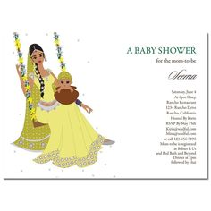 Indian Baby Shower Invitations -  Jhula Baby