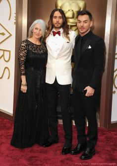 Jared Leto, Shannon Leto, and Constance Leto Jared Leto Oscar, Celebrity Gossip, Celebrity News, Constance Leto, Terence Winter, Academy Awards 2014, Jered Leto, Oscars 2014, Best Supporting Actor