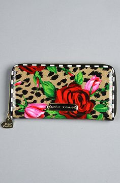 $58 The Wild Roses Zip Around Wallet by Betsey Johnson on #karmaloop -- Use repcode SMARTCANUCKS at the checkout for 20% off your order on karmaloop.com -- http://lovekarmaloop.com