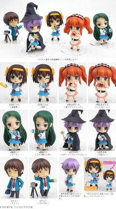 The Melancholy of Haruhi Suzumiya: Petit Nendoroid Trading Figures Series 1 (Display of 12)