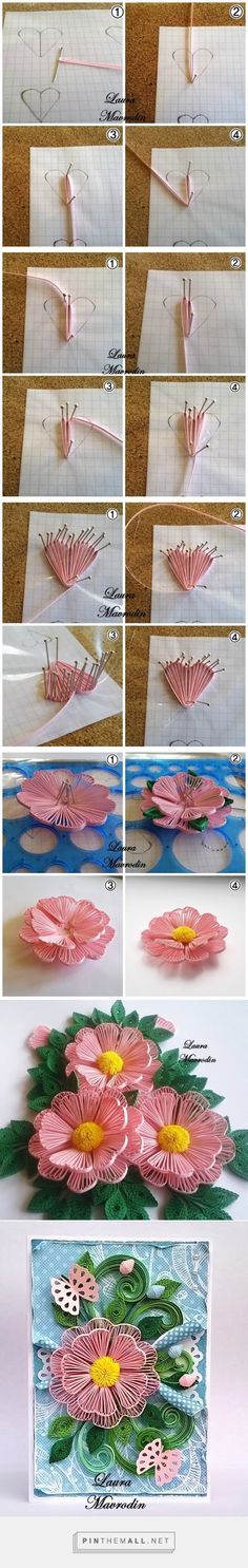 Quilling technique: Husking - course on flowers http://blog.na-strychu.pl/2015/06/technika-quilling-husking-kurs-na-kwiaty/