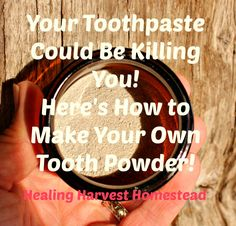 How to Make Your Own Natural Tooth Powder; Remineralizing, Freshening, & Whitening! Heidi Villegas  http://www.healingharvesthomestead.com/home/2016/10/26/how-to-make-your-own-natural-tooth-powder-remineralizing-freshening-whitening