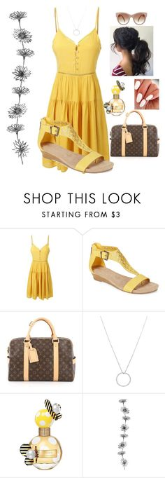 """summer bloom"" by harley-quinn13 ❤ liked on Polyvore featuring LE3NO, Kenneth Cole Reaction, Louis Vuitton, Roberto Coin and Marc Jacobs"