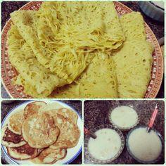 Today's Spl For Iftar #jaaloor #uthappam #ricekanji (porridge)