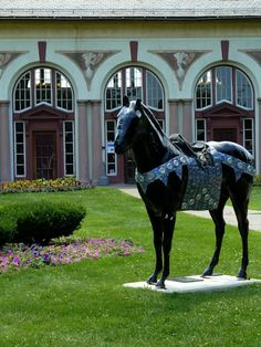 Saratoga Springs, NY  where the horses aren't all on the track:)
