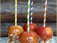Manzanas de caramelo otoñales