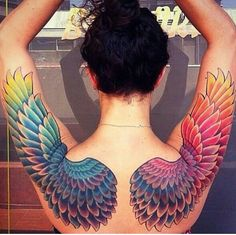 Love this ! #angel #wings #tattoo  perfection
