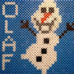 Olaf Frozen hama beads by hwelmholdt: Frozen Hama, Olaf Frozen, Fuse Bead Patterns, Beading Patterns, Fuse Beads, Perler Beads, Hama Beads Design, Iron Beads, Melting Beads