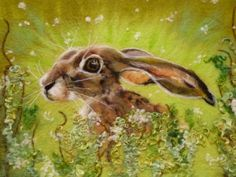 Wet felted hare.