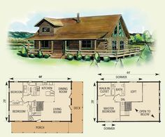 berkeley log home and cabin floor plan - Cabin Floor Plans