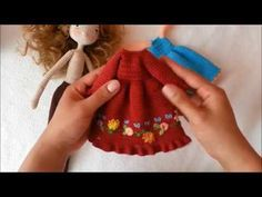 Doll dress / doll outfit crochet - YouTube