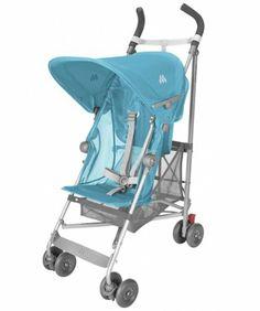 Amazon.com: Maclaren Volo Stroller - Silver Rotary Print Blue: Baby