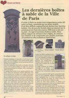 LES BOÎTES À SABLE DE PARIS - Paris Révolutionnaire