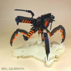 """Arachnid Warrior"" by legowillgalb: Pimped from Fl. Lego Mecha, Lego Robot, Lego Bionicle, Robots, Lego Design, Lego Disney, Lego Poster, Amazing Lego Creations, Lego Ship"