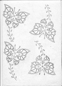 Cutwork Embroidery, Embroidery Transfers, Vintage Embroidery, Embroidery Stitches, Embroidery Patterns, Machine Embroidery, Knitting Patterns, Simple Embroidery Designs, Crochet Christmas Ornaments