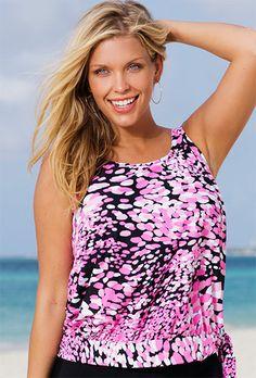 Beach Belle Desert Pea Plus Size Blouson Tankini Top Plus Size Swimsuit Swimsuits 2014, Plus Size Swimsuits, Swimwear, Big And Tall Outfits, Plus Size Outfits, Plus Size Men, Pink Swimsuit, Mens Big And Tall, Tankini Top