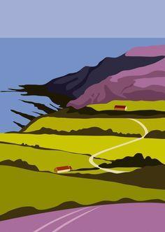 Towards Ravenscar, by Yorkshire artist Ian Mitchell http://www.ianmitchell-art.com/index.php/print-gallery/yorkshire-coast
