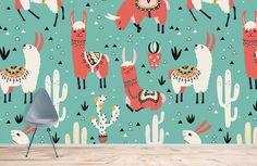 Alpaca & Cactus - Peel and Stick