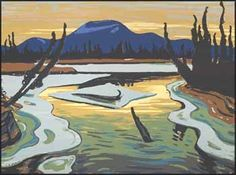 Jackson - Smart River (Alaska) serigraphy (silkscreen or screen print) Canadian Art, Landscape Paintings, Fine Art, Group Of Seven Paintings, Canadian Artists, Artist, Painting, Fine Art Collectors, Landscape Art