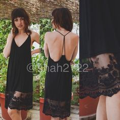 """New Black lace tunic top slip dress extender S,M,L Black Add some length to short mini dress or top tunic sweater with this beauty. Lace Cami extender slip dress tunic top. can be used as a slip dress or for layering .  👉also available in IVORY.                                           👉measurements ⭐️S : armpit to armpit :15"""" and lenghth : 35"""" ⭐️M :armpit to armpit :16"""" and length is 35.5"""" ⭐️L  : armpit to armpit :18"""" and length is 36"""" Boutique Dresses Midi"""