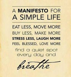 Yoga Inspiration: Simple Life