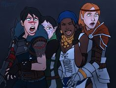 It's another of those haunted house pictures but with Hawke, Merrill, Isabela, and Aveline