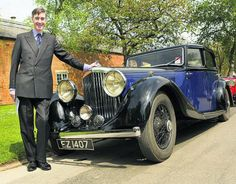 Jacob Rees Mogg with his Bentley
