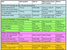 portion control chart | Food Portions and Serving Sizes (Mindful Eats)