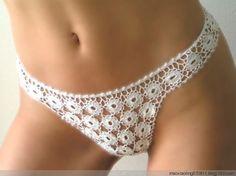 "Crotchet Underwear Pattern.. hmm.. maybe I can make them into ""granny panties!"".. lol"