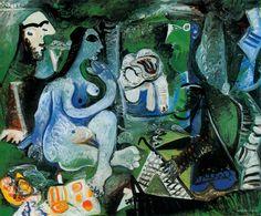 Pablo Picasso, Déjeuner sur l'herbe, 1961 (after manet / le déjeuner sur…
